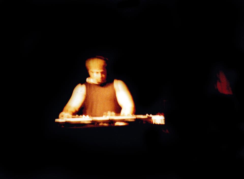 Thomas Spiegel, Dj Man-x at the cricket theater 1990- Photo Tony Larson